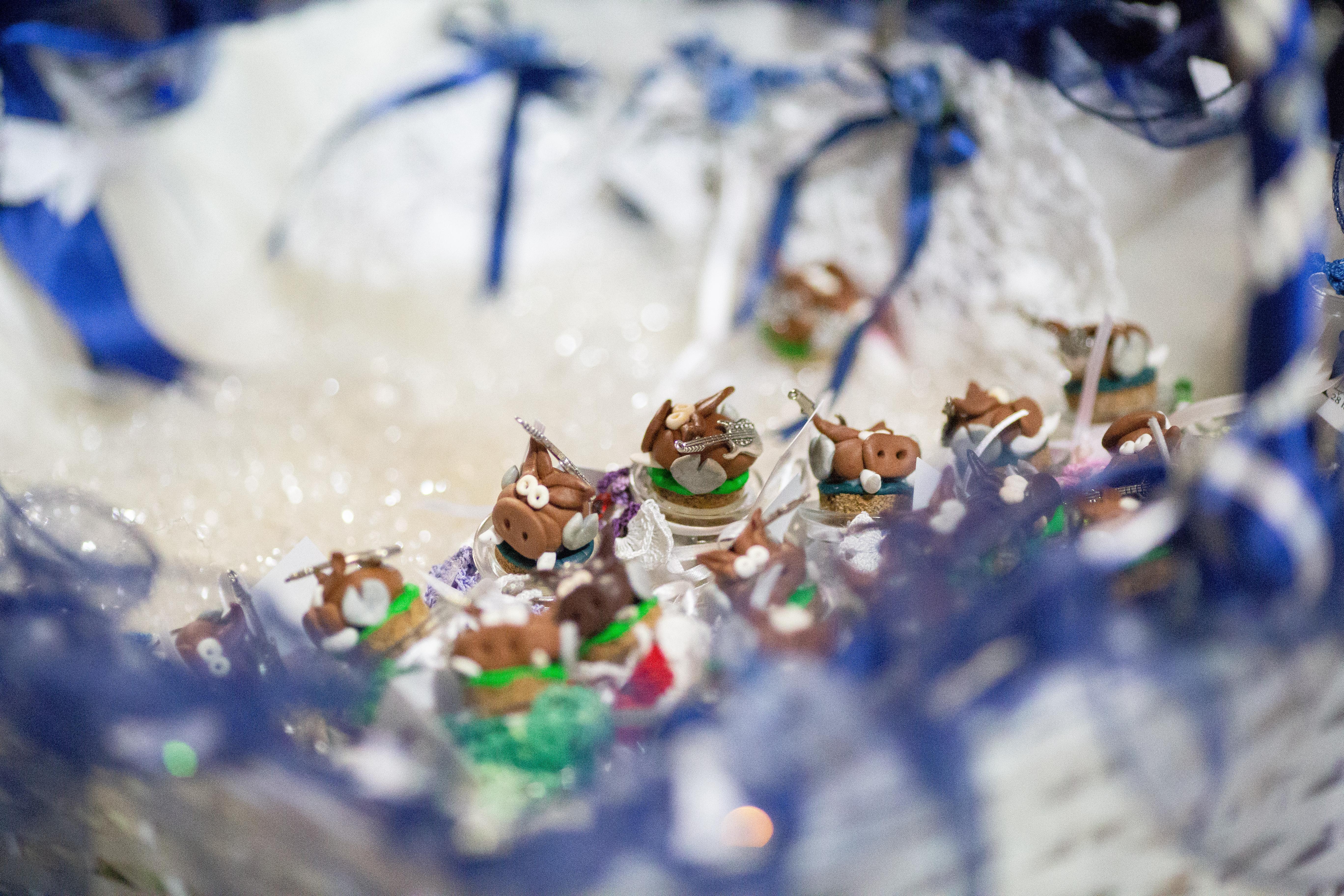 Bomboniere barattolini vetro, tema farfalline & cinghiale