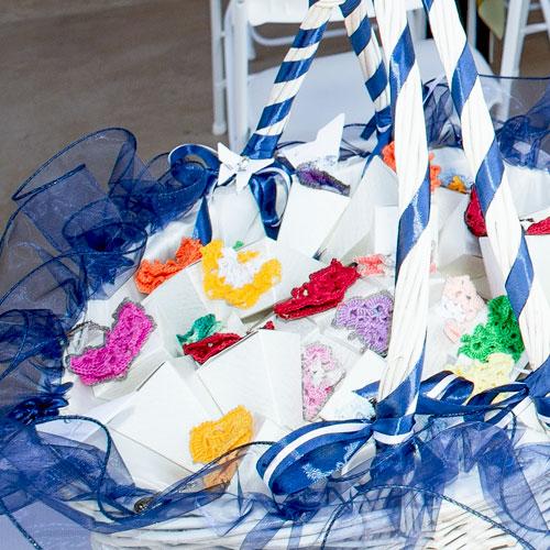 Farfalline bomboniere - decorazione coni riso